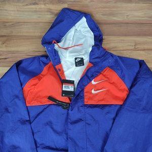 Nike NWT Double Swoosh Hooded Woven Jacket Loose F